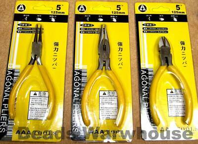 Jewellery Making Beading Tools 5inch Pliers - Round Nose,Chain Nose,Side Cutter • 2.95£