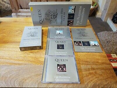 Queen Greatest Hits I II & III The Platinum Collection Three CD & Video Rare Set • 25£