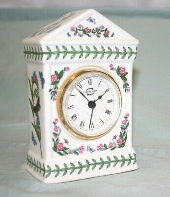 Portmeirion Botanic Garden Ceramic Desk/Mantel Clock  J-525 • 27.03£
