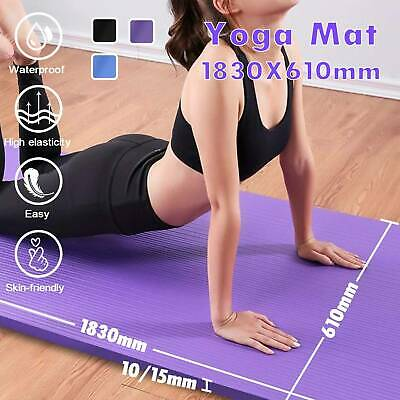 AU21.99 • Buy Thick Yoga Mat Pad 10/15mm NBR Nonslip Exercise Fitness Pilate Gym Durable AU