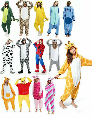 AU28.98 • Buy Adult Kids Olaf Fluro Onesie Unicorn  Animal  Pajamas Unisex Costume Sleepwear