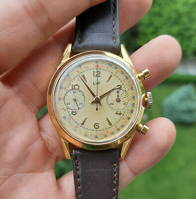 $ CDN2022 • Buy Vintage Chronograph LIP R106 Valjoux 23 MINT 1950's 1960's 36mm