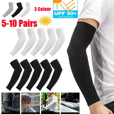5/10 Pairs Cooling Arm Sleeves Cover Basketball Golf Sport UV Sun Protection Men • 4.99£