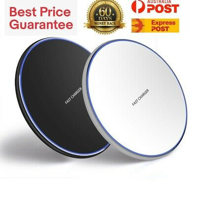 AU11.99 • Buy Qi Wireless Charger Fast Charging Pad For IPhone 11 X XR XS Max Samsung S10+ S20