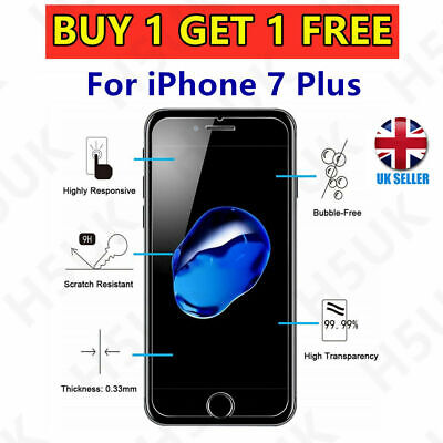 Tempered Glass Screen Protector For IPhone 6 7 8 Plus XS XR Max 11 =100% Genuine • 1.80£