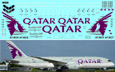 1/144 PAS-DECALS 350-02 Airbus A-350 Qatar Airlines For Revell Kit • 17.17£