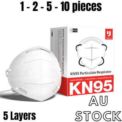 AU35.90 • Buy YUZHI Protective Disposable Face Mask N95 KN95 Respirator Unisex- 5 Layers PM2.5