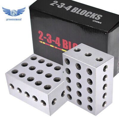 $54.40 • Buy 1 Matched Pair Ultra Precision  2-3-4 Blocks 23 Holes .0002  Precision Machinist