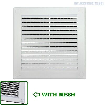 150mm X 150mm 6 X6  WHITE Air Vent Grill Ventilation Cover Fly Screen With Mesh • 4.69£
