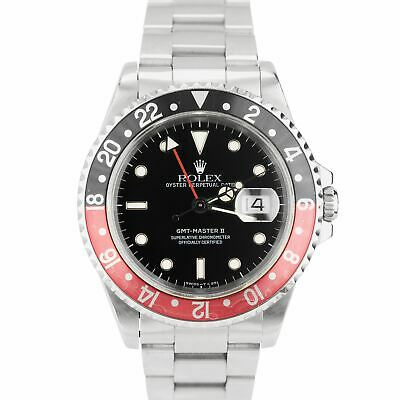 $ CDN12006.51 • Buy 1998 Rolex GMT-Master II U-SERIAL 40mm Stainless Steel Coke Red Watch 16710
