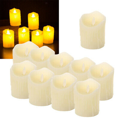 10x LED Flameless Tea Light Candle Swinging Dancing Flame Electronic Candles • 9.45£