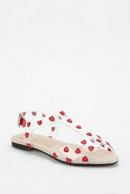£16.99 • Buy Brand New Urban Outfitters F Troupe Heart Flat Sandals Sliders Size UK7 RRP £140