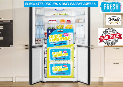 Fridge Freshener Deodoriser Air Freshener Kitchen Smell Odour Refrigerator 2pcs • 2.79£