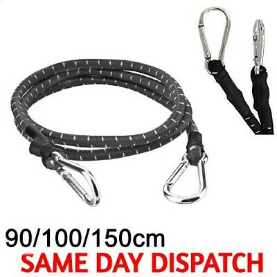 £3.99 • Buy 60/90/150cm CARABINER HOOK STRONG STRETCHED BUNGEE CORD STRAP CAR ROOF LUGGAGE