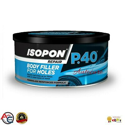 U-POL Davids Isopon P40 250ml Fibre Glass Body Filler Compound Body Repair Paste • 12.99£