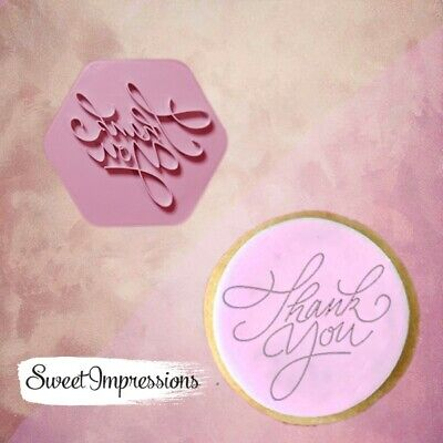 £4.99 • Buy Thank You Embosser Stamp, Cookie Cutter, Fondant Cupcake Decoration Baking