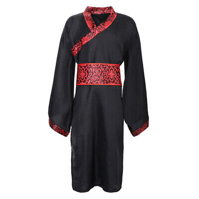 Chinese Men's Han Clothing Hanfu Ancient China Cosplay Suit Robe Costume • 14.58£