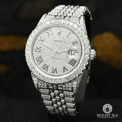 $ CDN16099.99 • Buy Rolex Datejust 36mm Jubilee 13.00CT Full Iced Out Roman Numerals