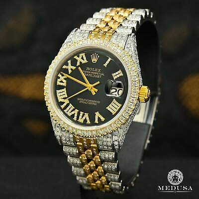 $ CDN13499.99 • Buy Rolex Datejust 36mm Jubilee Iced Out Black Roman Numerals
