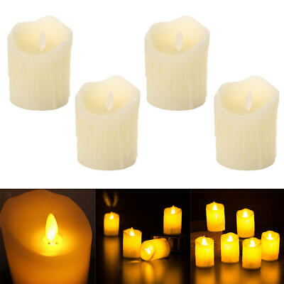 4x LED Flameless Tea Light Candle Swinging Dancing Flame Electronic Candles • 5.64£