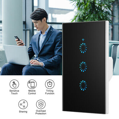AU29.99 • Buy Smart Home WiFi Touch Light Wall Switch Panel For Alexa Google APP 1/2/3 Gang