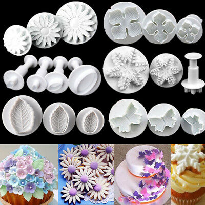 £2.39 • Buy Plastic Plunger Cookie Cutters Mold Fondant Sugarcraft Mould Cake Baking Decor