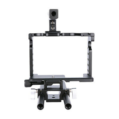 Video Camera Cage Kit 15mm DSLR Rig For Panasonic GH4 GH5 With Top Handle • 49£