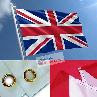 Great Britain Union Jack UK Flag Large 3X5ft With 2 Eyelets Quality Colors Print • 3.45£