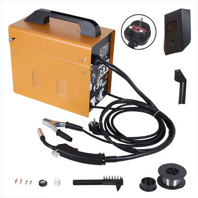 Portable MIG 130 No-Gas MIG Welder Professional 230V Welding Machine UK • 89.58£