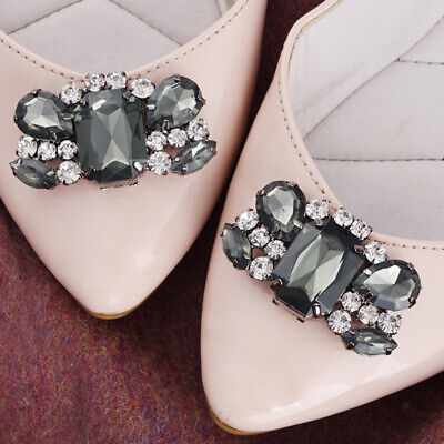 £3.89 • Buy 2Pcs Crystal Rhinestone Shoes Clips Shoe Charms Decorative Shoe Accessories