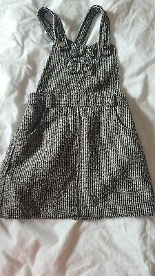 Girls Dungaree Checked Dress Age 2-3 • 0.99£