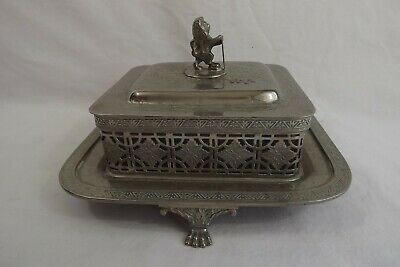 Antique Silver Plated Butter Dish • 6.50£