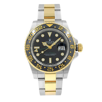 $ CDN16811.53 • Buy Rolex GMT-Master II Black On Black Steel Yellow Gold Automatic Mens Watch 116713