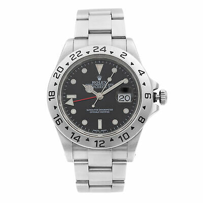 $ CDN8070.68 • Buy Rolex Explorer II 40MM Steel Black Dial Red Hand Automatic Mens Watch 16570