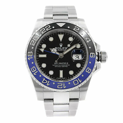 $ CDN19355.43 • Buy Rolex GMT-Master II Batman Black Dial Steel Automatic Mens Watch 116710BLNR