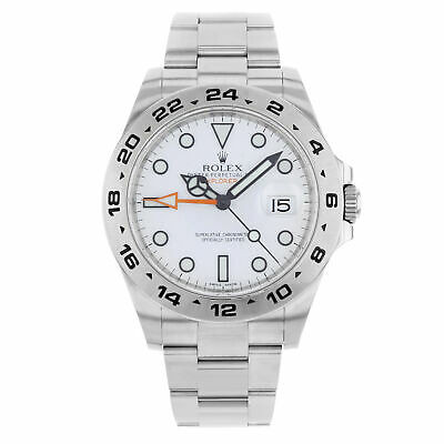 $ CDN11624.36 • Buy Rolex Explorer II 216570 WSO White Dial Date Steel Automatic Men's Watch