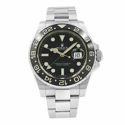 $ CDN13348.16 • Buy Rolex GMT-Master II Black Dial 116710LN Steel Automatic Men's Watch Box Papers