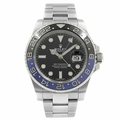 $ CDN20963.62 • Buy Rolex GMT-Master II Batman Black Dial Steel Automatic Mens Watch 116710BLNR