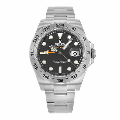 $ CDN12813.35 • Buy Rolex Explorer II 216570 BKSO Black Dial GMT Steel Automatic Mens Watch