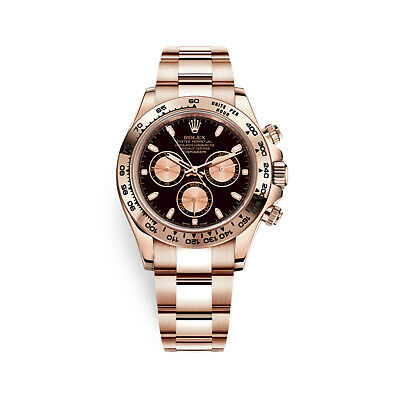 $ CDN57340.40 • Buy Rolex Cosmograph Daytona 18K Rose Gold Black & Pink Dial Mens Watch 116505