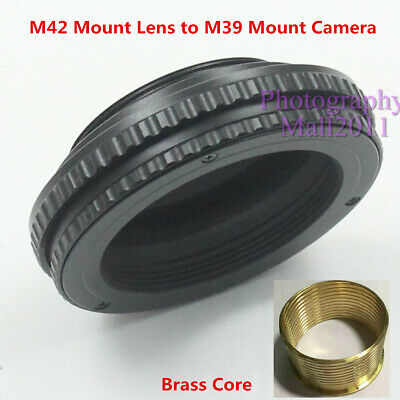 $19.99 • Buy Brass M42 To M39 10mm-15mm Adjustable Macro Tube Focusing Helicoid Mount Adapter