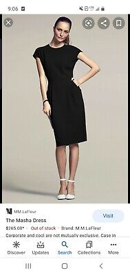 $ CDN147.67 • Buy MM Lafleur The Masha Black Dress Size 12