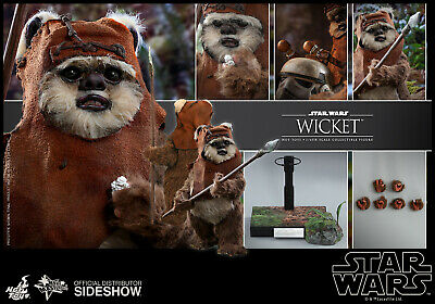 $229.99 • Buy Hot Toys Star Wars Wicket Ewok 1/6 Scale Figure Endor ROTJ Return Of The Jedi