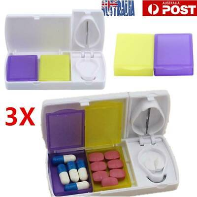 AU12.45 • Buy Pill Cutter Box Tablet Splitter Divider Portable Convenient Medicine Organizer