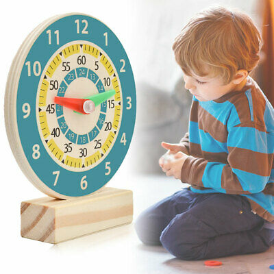 £7.07 • Buy Wooden Clock Kids Educational Toy Children Learning Time Teaching Aid Tools