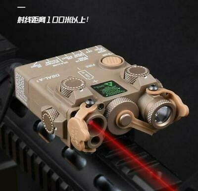 Tactical Hunting DBAL-A2/PEQ15 PEQ 15 Red Laser Indicator IR Lighting Flashlight • 73.99£