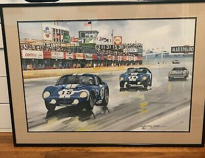 $245 • Buy Shelby Daytona Cobra Coupe Sebring 1965 ORIGINAL Painting