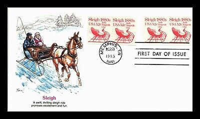 $0.51 • Buy Horse Drawn Sleigh Nonprofit Coil Transportation Series Fdc Fleetwood Us Cover