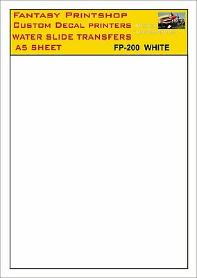 £6.95 • Buy Decal Solid Colour  A5 Water Slide Transfers  Model Decals  White  Fp 200