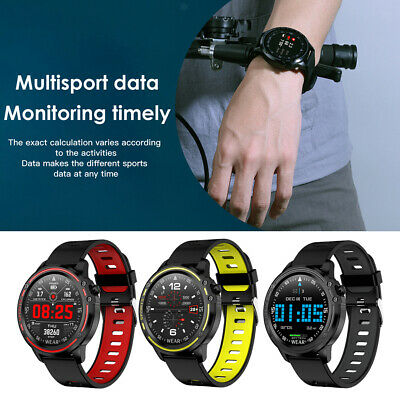 AU38.69 • Buy L8 Smart Watch Mens Fitness Tracker Heart Rate Monitor ECG PPG IP68 Waterproof